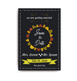 wedding save the date invitation card with black vector image vector image