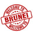 welcome to Brunei vector image vector image