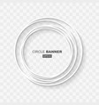 white abstract circle random banner template vector image vector image