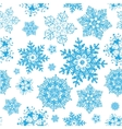 winter snowflakes blue christmas seamless vector image vector image