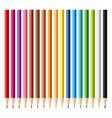 wooden sharp pencils set background vector image vector image