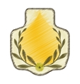 drawing stamp with olive branch graphic vector image