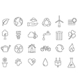 Ecology icons set vector image