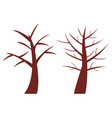 bare tree vector image