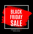 black friday sale inscription banner design vector image