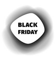black friday smoothed paper banner vector image vector image