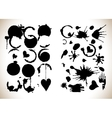 Blobs set isolated on white background vector image vector image