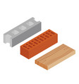 block brick and plank vector image