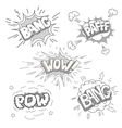 Boom Comic book explosion set vector image vector image