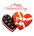 box of heart shaped chocolates vector image vector image