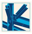building construction metal frame icon vector image vector image