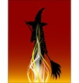 Burning The Witch vector image vector image