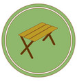 camping table icon vector image