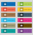Car icon sign Set of twelve rectangular colorful vector image vector image
