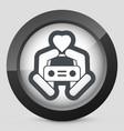 car love icon vector image