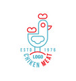 chicken meat logo estd 1976 retro badge for farm vector image vector image