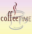 coffee time bean word vector image