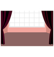 Curtain window interior vector image