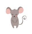 cute hand drawn mouse isolated on white vector image vector image