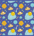 deep space cartoon seamless pattern vector image vector image