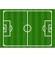 European football soccer field vector image