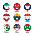 flags of different countries of the world in the vector image