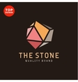 Flat minimalist colored stone design vector image