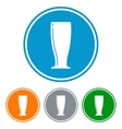 Flat pilsner glass for beer vector image