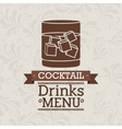 fresh cocktail design vector image vector image