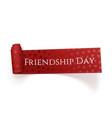 Friendship Day realistic red festive Tag vector image vector image