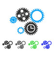 gear mechanism flat icon vector image vector image