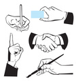 Hands - different gestures vector image