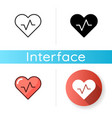 health and wellness app icon vector image vector image