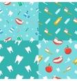 healthy teeth dental seamless pattern set vector image vector image
