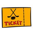hockey tickets icon icon cartoon vector image vector image