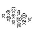 icon set people vector image vector image