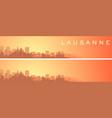 lausanne beautiful skyline scenery banner vector image vector image