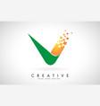 letter u logo design in bright colors vector image vector image