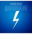 Lightning bolt flat icon on blue background vector image