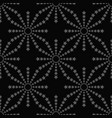 line stars seamless pattern on black background vector image vector image