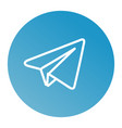linear paper plane icon vector image vector image
