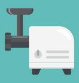 meat grinder flat icon household appliance vector image