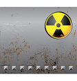 Metal background with radiation sign vector image