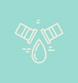 modern plumbing logo vector image vector image