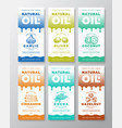 natural oil abstract packaging designs or vector image vector image