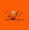 new year numbers 2021 and basketball ball vector image vector image