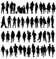 people black color silhouette vector image vector image