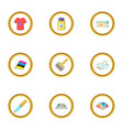 printing service icons set cartoon style vector image vector image