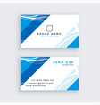 professional blue modern business card vector image