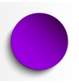 Purple circle empty banner on white background vector image vector image